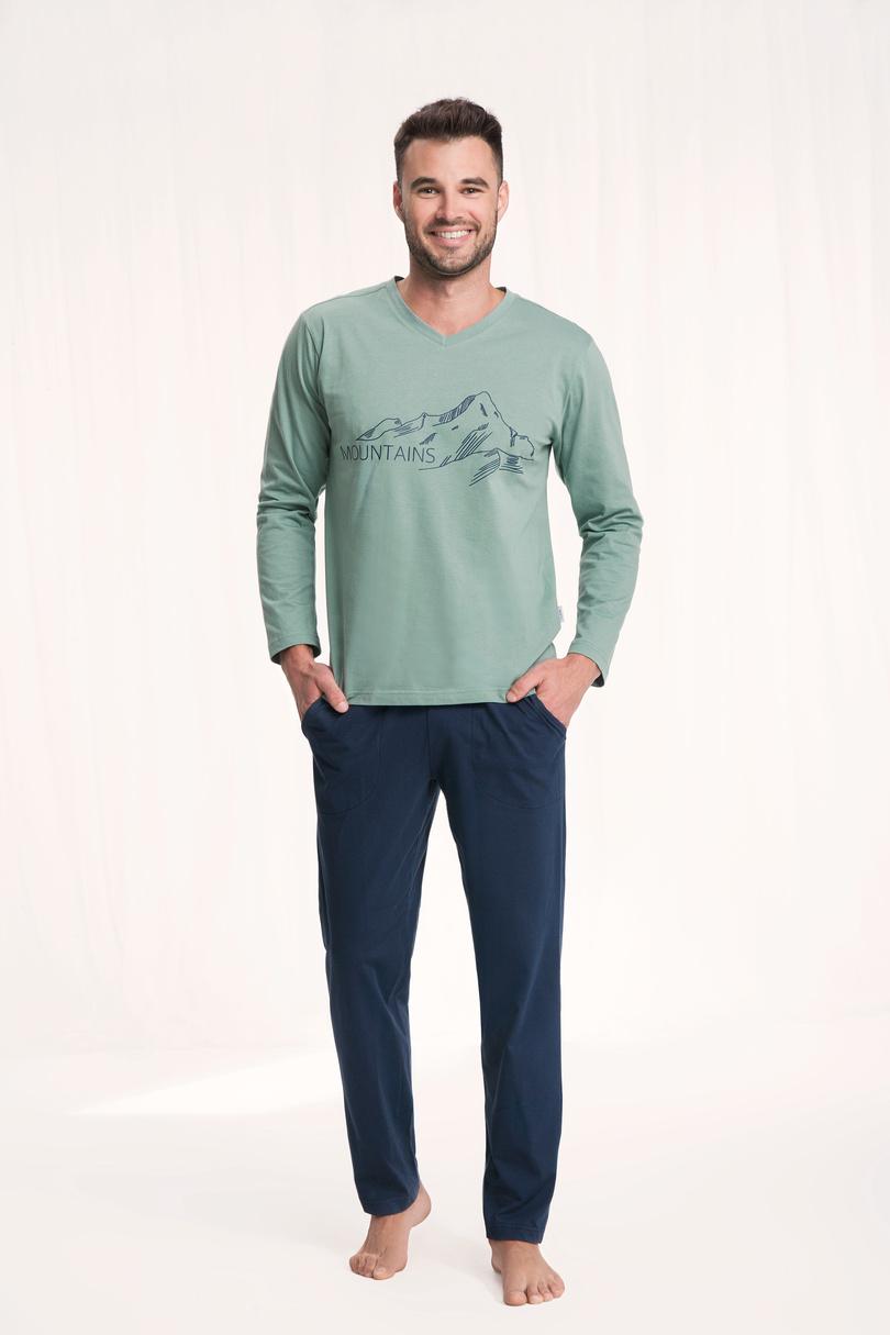 Piżama męska 702 zielony